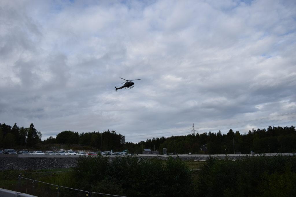 helikopter i Väsjön
