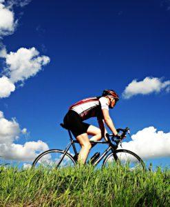 cyklist väsjön